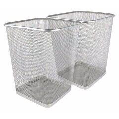 Office metal Black mesh trash can paper waste trash bin