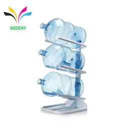 Custom Hot Sell Floor Standing Metal Storage Display Drinking 5 Gallon Water Bottle Rack