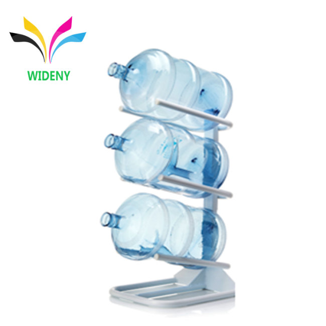 Custom Hot Sell Floor Standing Metal Storage Display Drinking 5 Gallon Water Bottle Rack