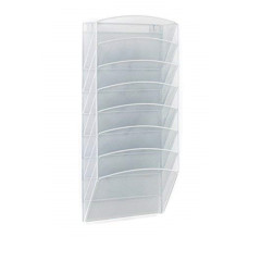 Wideny office supplier silver Mesh desk 8 tier metal document file tray organizer