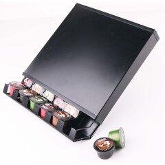 Wholesale promotion customized logo powder coated metal iron coffee capsule storage holder for cafe