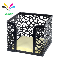 WIDENY metal mesh punched desktop memo holder for school and office