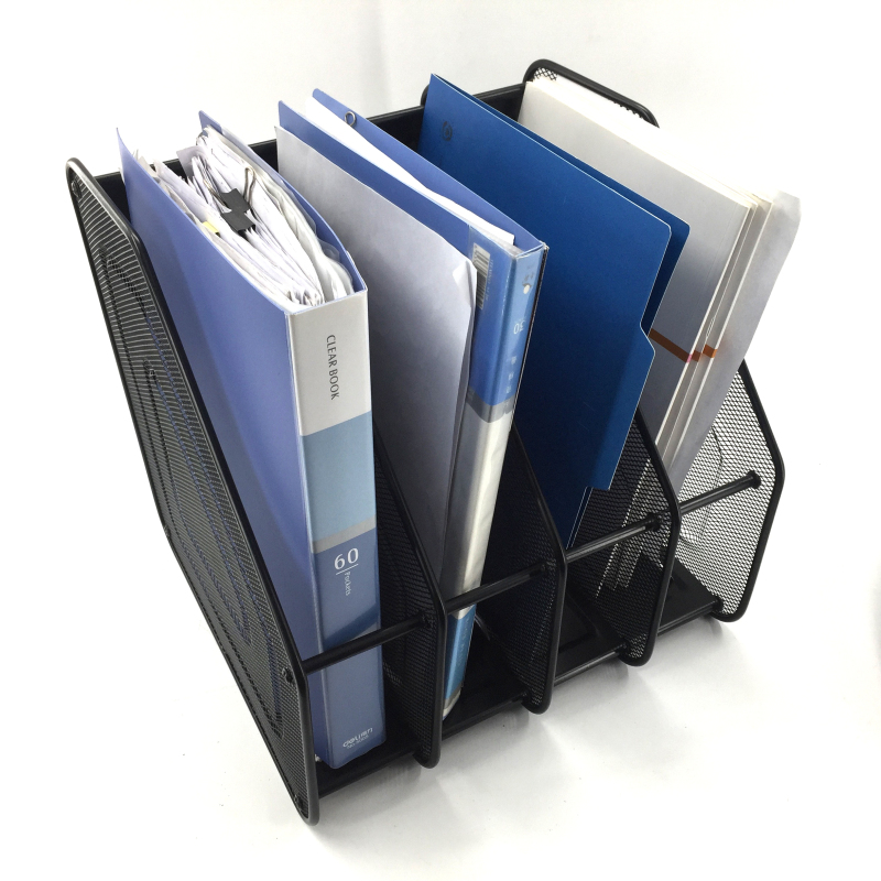 Desk Organizer vertical Brochure sorter A4 Paper stand file holder