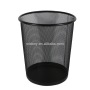 Office home hotel room kitchen or outdoor black pop up open top wire metal mesh waste trash bin for garbage