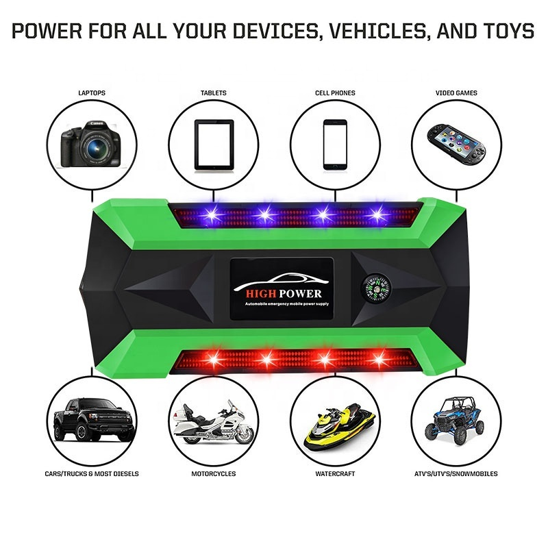 4 USB Portable Fully Automatic Engine Starter with car cigarette lighter