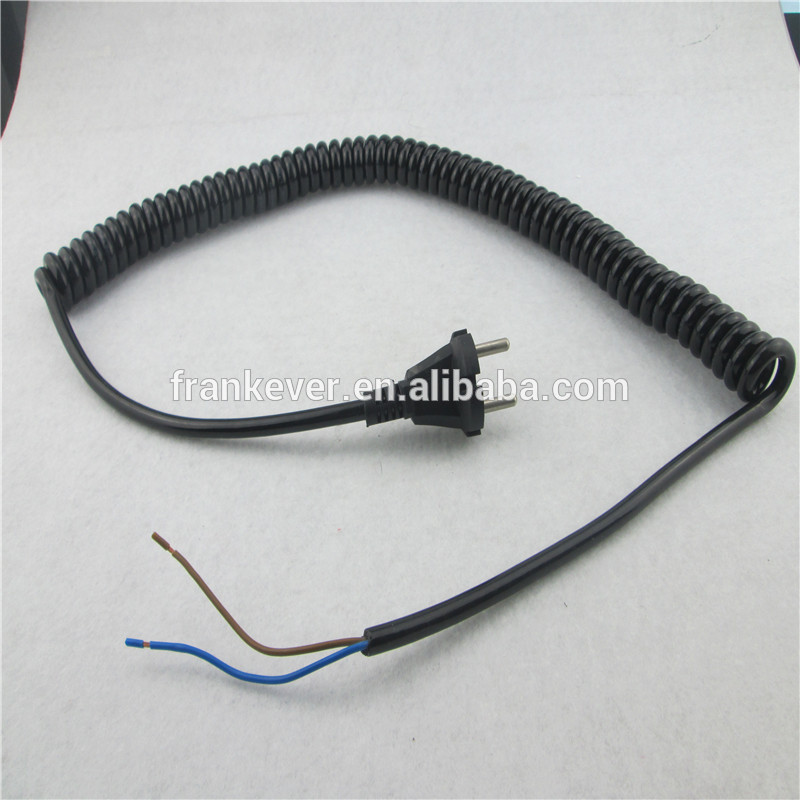 3 Pin AC power cord extension spiral power cord