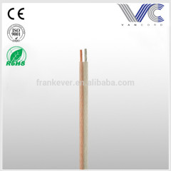 transparent speaker cable OFC/CCA clear transparent audio speaker wire cable