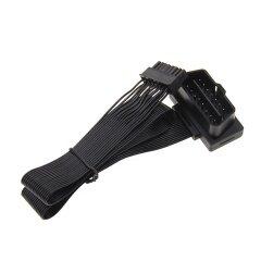 Professional 16PIN Black OBD2 Male - SM Female Extension Flat Ribbon OBD2 Cable