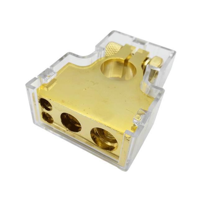 2 ways 1*0GA+1*4GA+2*8GA clamp car battery terminal connector
