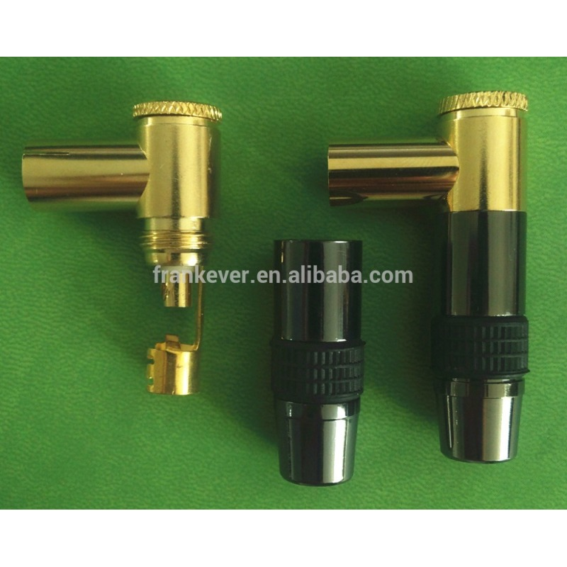 9.5mm Custom Made Pure Copper Gold-plated right-angle welded TV female plug
