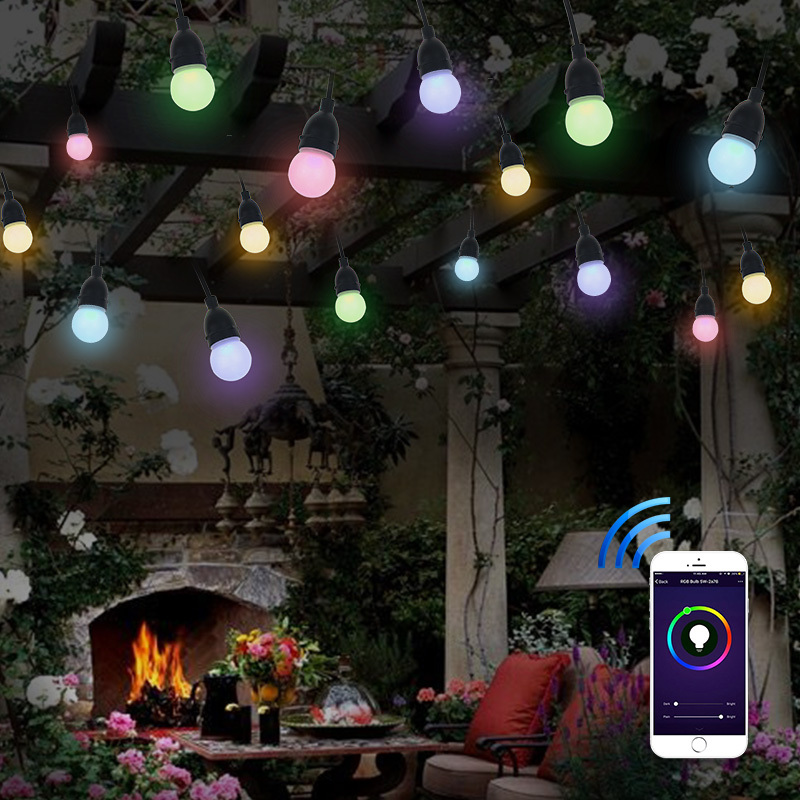 WiFi smart color changing flicker flame starburst christmas lighting led string light