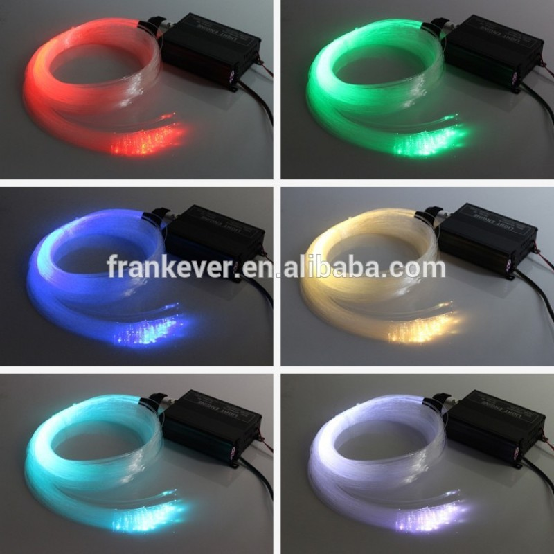 DIY Multi-color LED Lamp Fiber Optic Lighting 150 Strand Star Ceiling Light Kit Color Changing