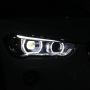 Car headlamp assembly for BMW X1 Headlights assembly LED lens with bend assist function