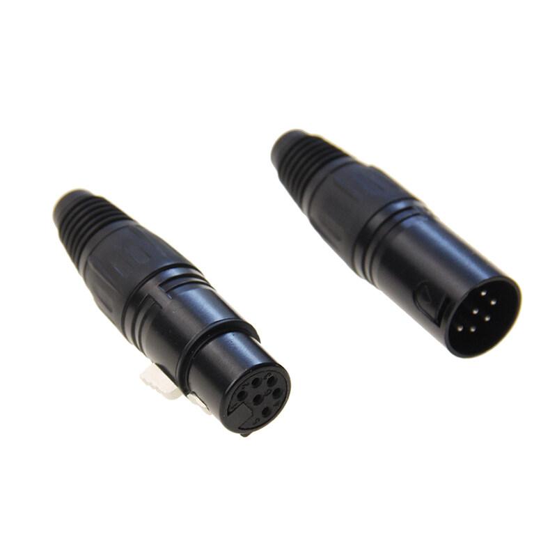 High quality 6 pins XLR canon female connector,stage use 6P canon female connector