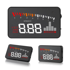 X5 3.5 Inch Car HUD OBD2 Head Up Display Overspeed Warning System Windshield Auto Electronic Alarm Projector