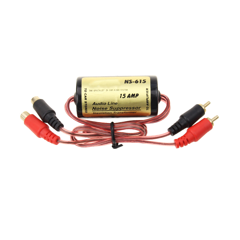 15A Audio Ground Loop Noise Isolator filter for Car Audio Electric hum noise reducer