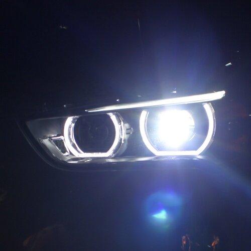Car headlight assembly for BMW X1 headlamp assembly BMW X1 2016-2019 LED Headlight Lens Double Beam Bi-Xenon