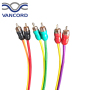 high Quality Rose Gold Plating OFC RCA Cable Rainbow