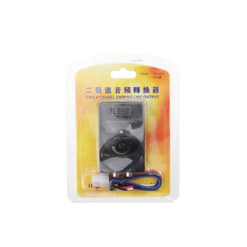 Audio Hi-Low Car Audio High Level Speaker Signal to Low Level RCA Converter
