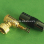 Custom Made Gold-plated all-metal Right-angle Welded F male video plug