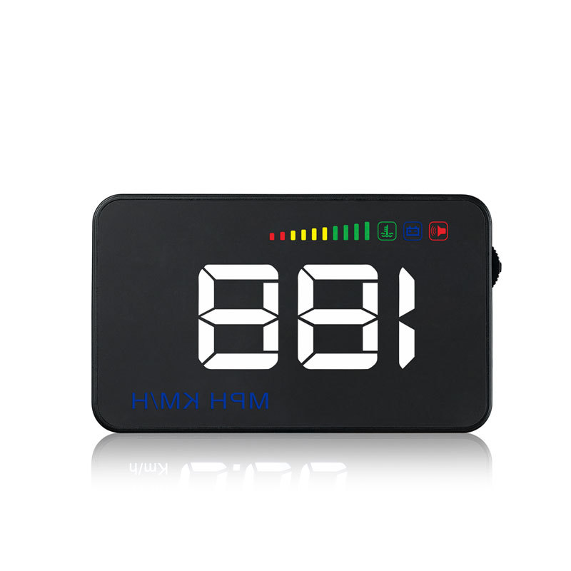 GPS HUD 5.5 inch head up display hud gps tracker led obd ii hud for car or bus with speed alarm