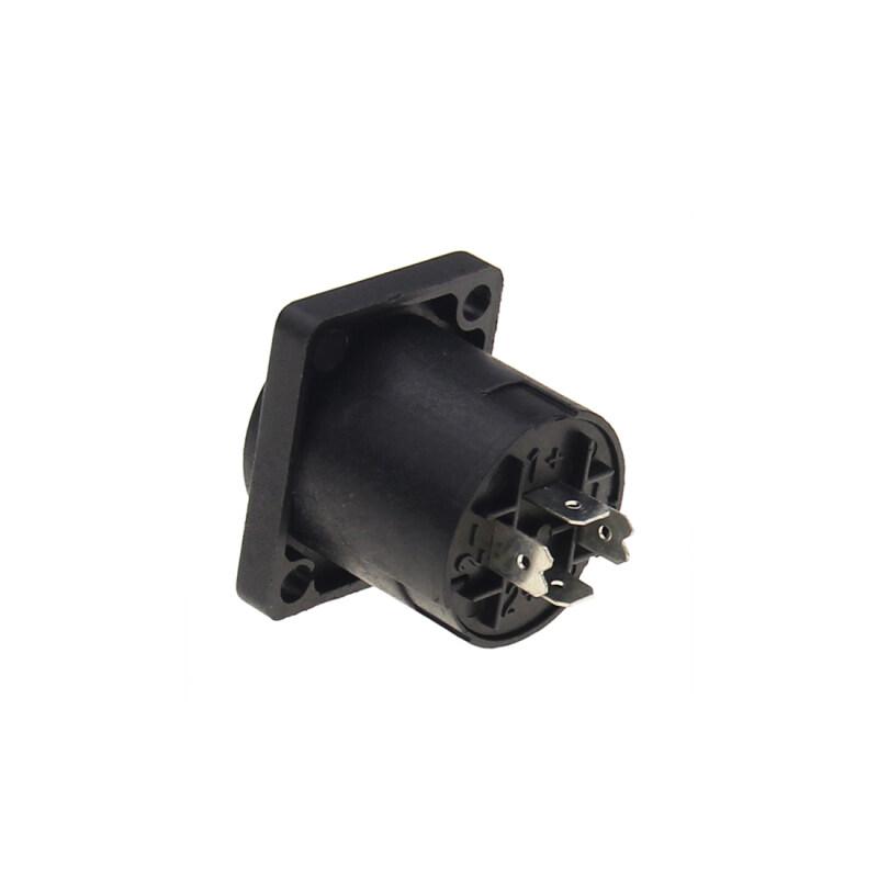 Good Quality Solder Terminal HPC Loudspeaker Panel Mount 2 holes Speakon Audio Jack