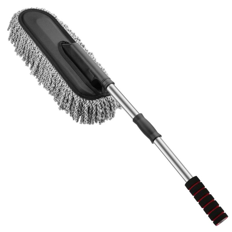 Factory price car duster cleaning with microfiber car wash brush Long handle car cleaning brush