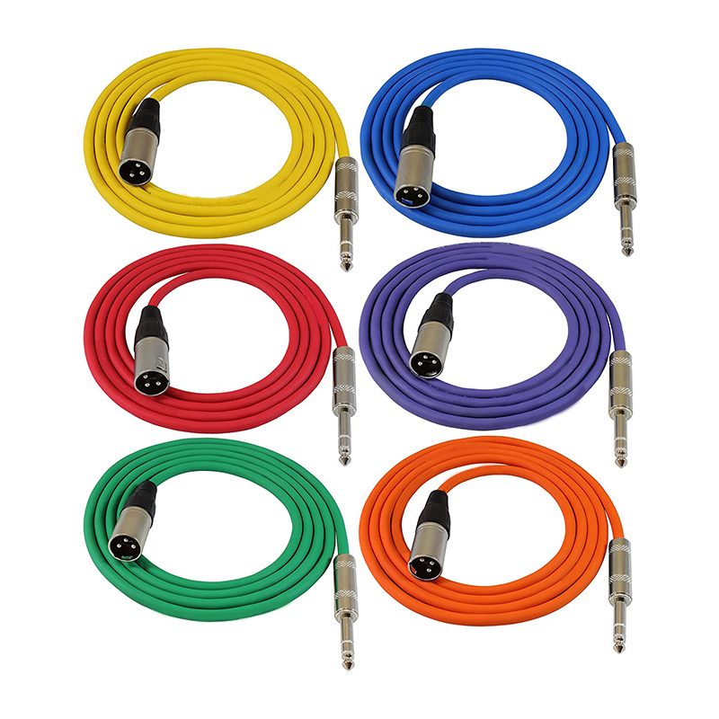 1ft Patch Cable Cords - XLR Male to 1/4