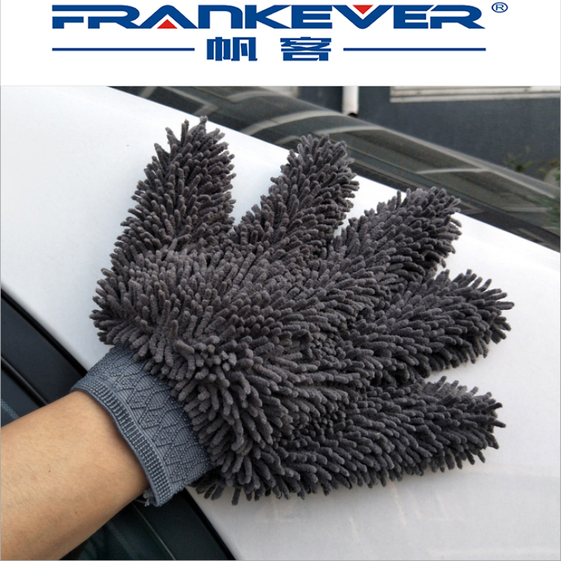 car cleaning Fine hair chenille five-finger car wash gloves Microfiber multifunctional gloves
