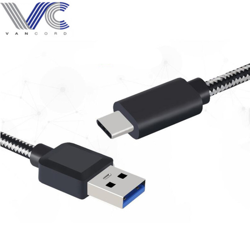 USB 3.0 to Type-c cable with nylon braid sleeve