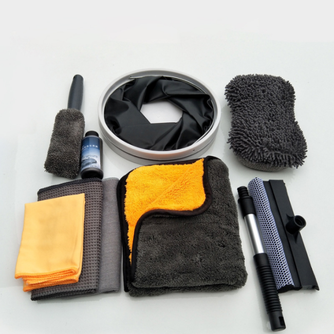 Car wash suit combination Car wash 10 piece set home Car wash supplies cleaning kit