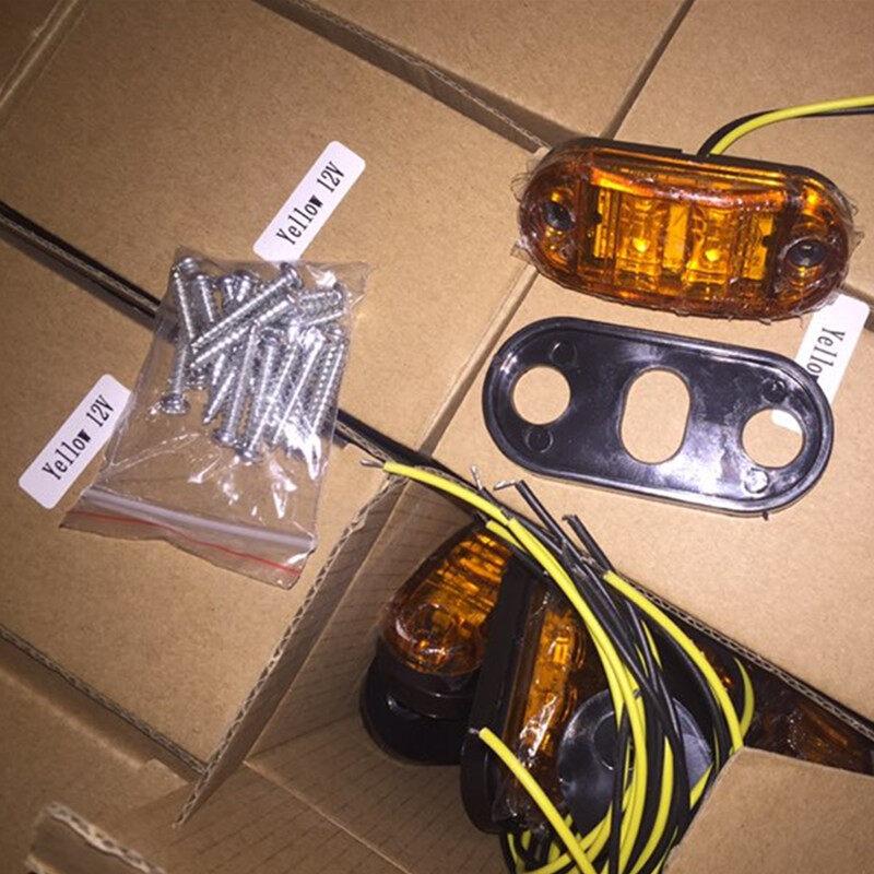 12V/24V 2LED Piranha Truck/Pickup/Trailer Side Marker Lamp/Light with rubber waterproof ring