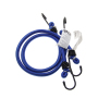 Factory wholesale 8mm mini elastic cord rubber luggage rope with steel hook