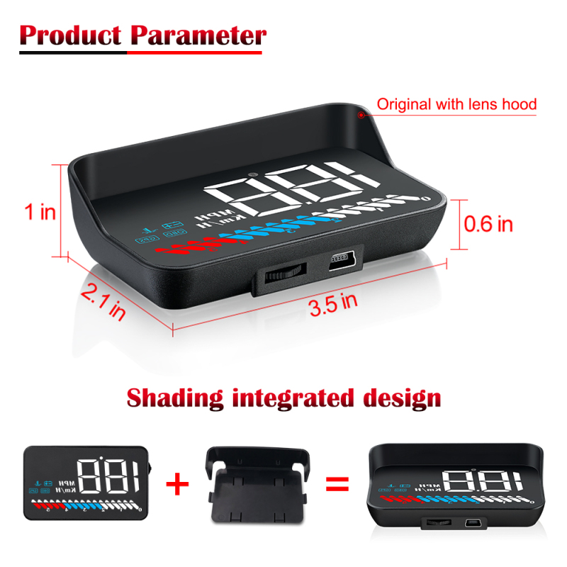 2020 best rearview mirror tpms automotive exploride obd2 led head up speed display projector navigation hud display for cars