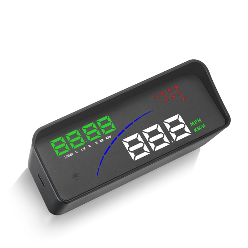New Car Accessories OBD Smart Digital Meter Obd2 Gps Dual System 3.5inch Head Up Display Car Hud