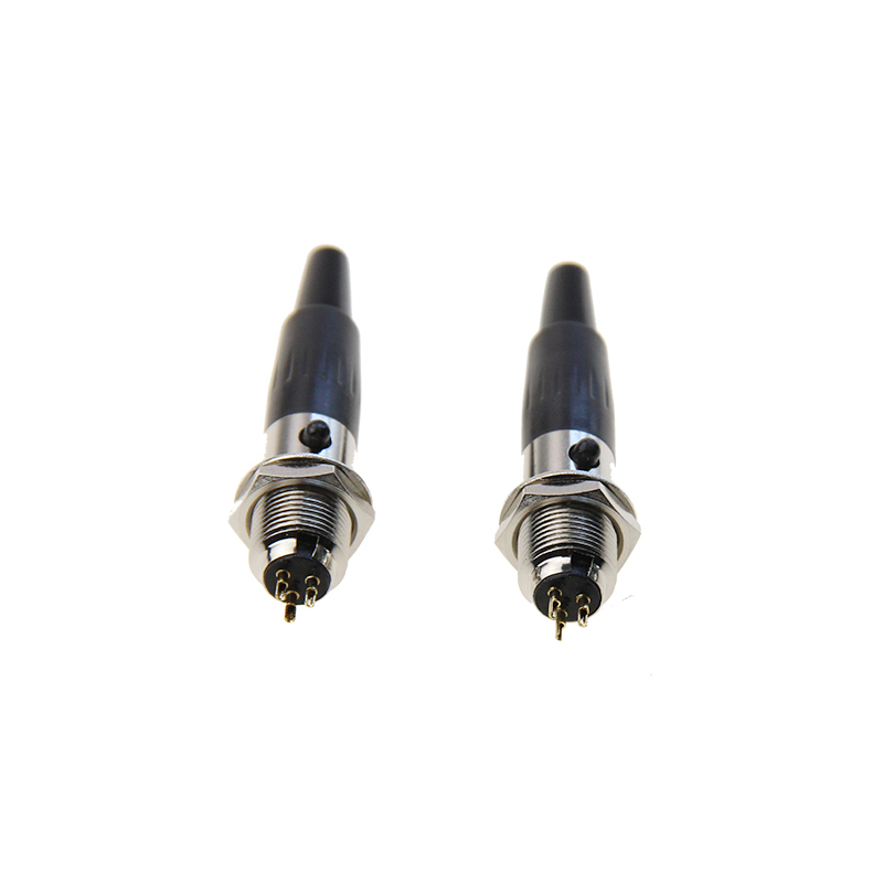 High Quality Microphone MIC Audio Connector Silver Mini XLR 3Pin Male Panel Small Plug XLR