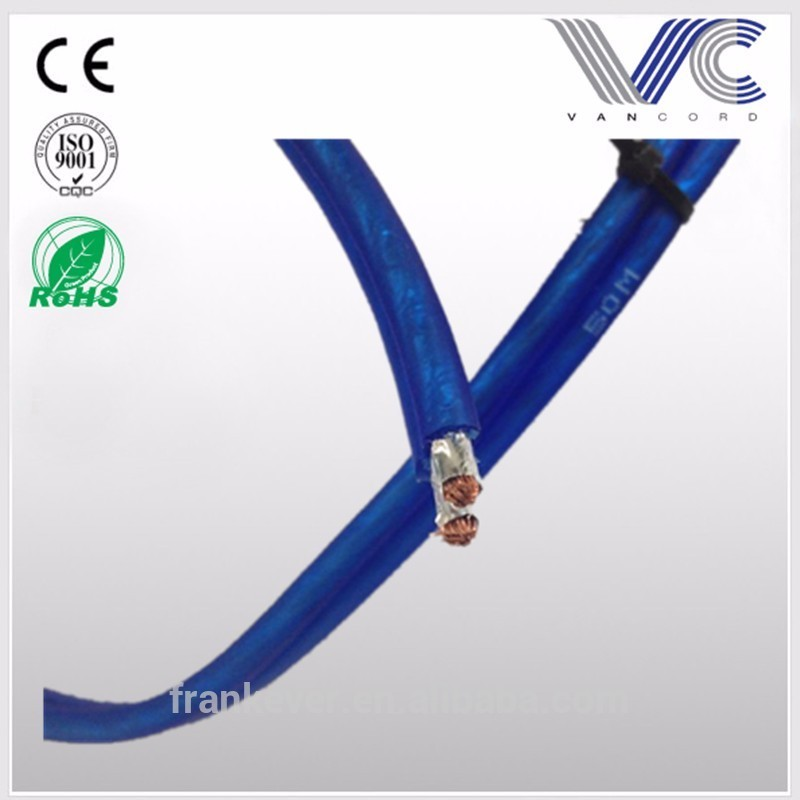 2016 New arrival OFC Transparent Flexible speaker cable 2 core insulation with Aluminum foil shielding