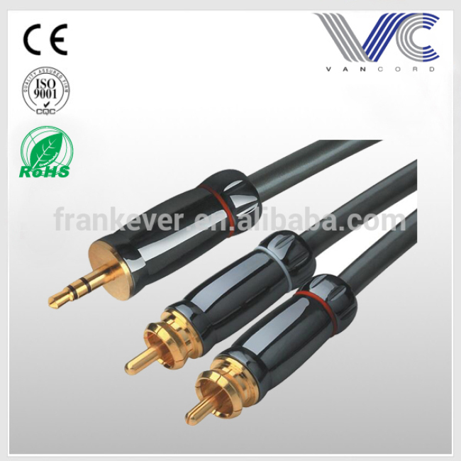 High end 3.5mm Male To RCA male Stereo Audio Cable