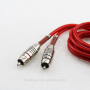 Nickel-plated Connector 2R to2R RCA Cable OD3.8mm with Spring Protect