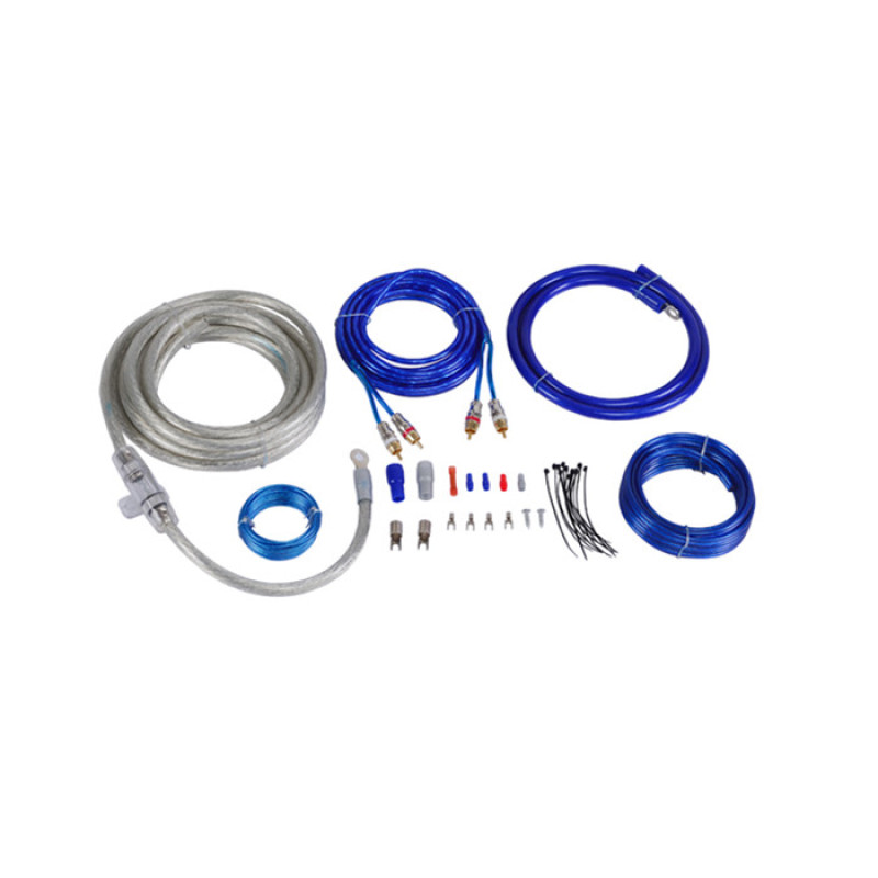 Customizable Car amplifier wiring kit with double blister package