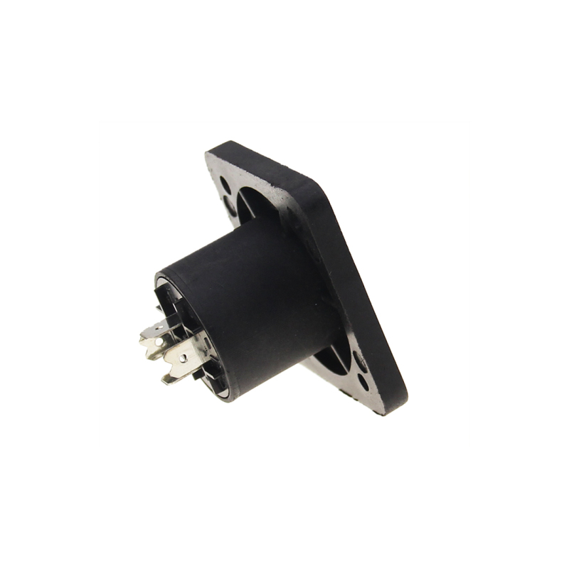 Good quality 4 pin power cable connector male and female panel female speakon jack