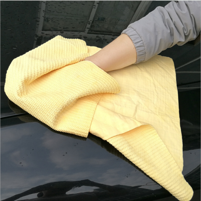 3D PVA 66*43 Super absorbent suede car cleaning towel microfiber towel