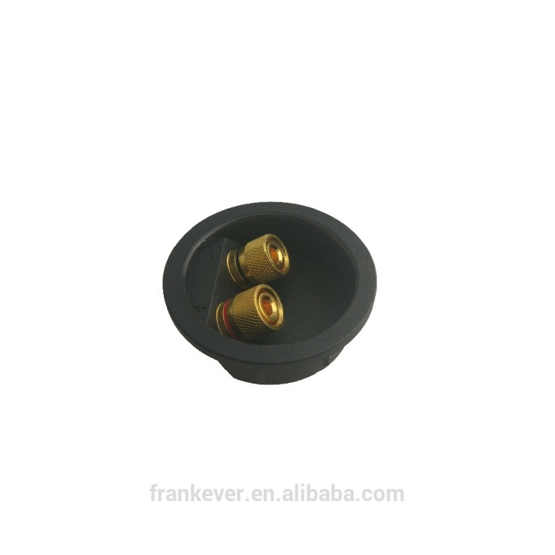 Banana Binding with Gold Plated Post Speaker Black Round Terminal Cup