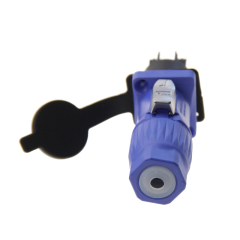 waterproof 3 pole LED screen display powercon connector Power aviation socket with material Nylon