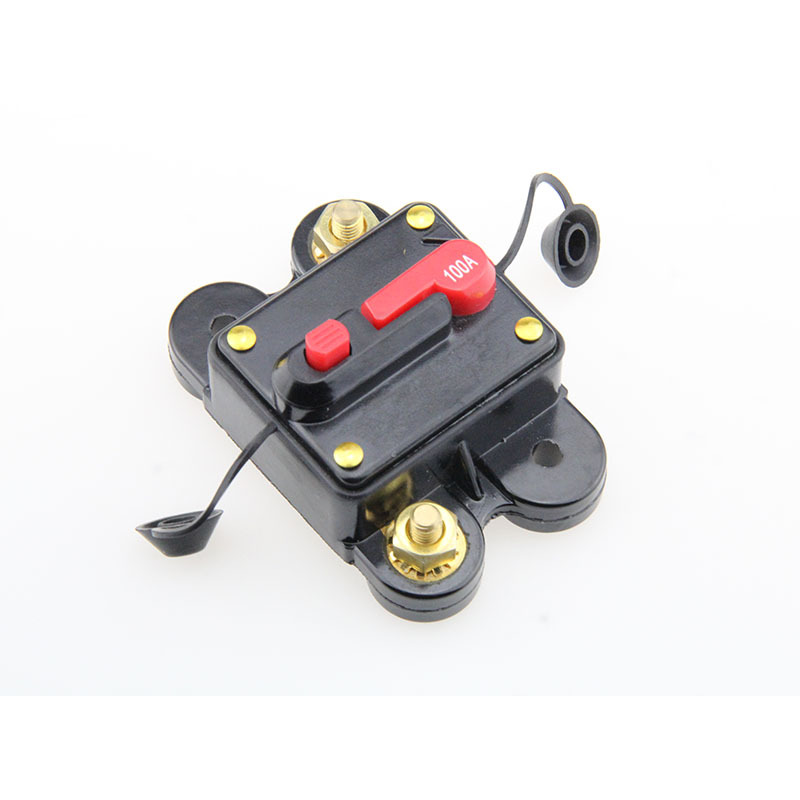 12V- 48VDC 1x0/4GA IN-1x0/4GA OUT Auto Circuit Breaker with Manual Reset