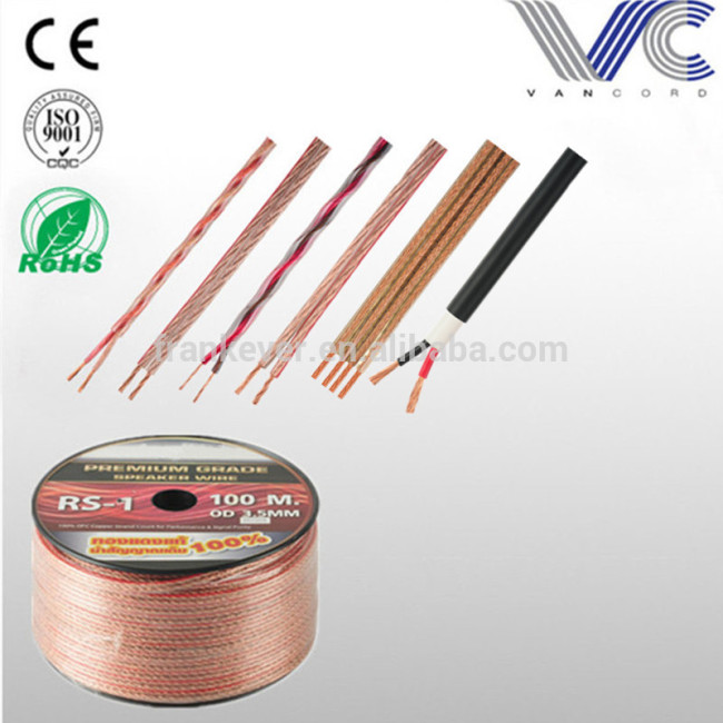 Customized OFC/CCA conductor car audio speaker cable
