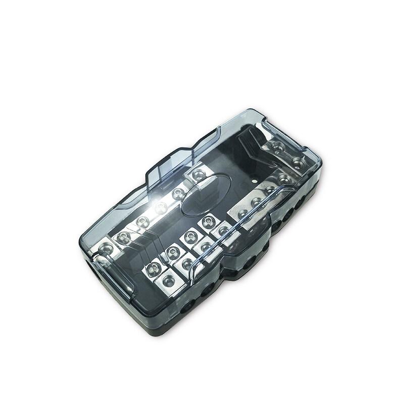 Auto waterproof 12V 24V fuse holder automotive  4x0/4GA IN-8x4/8GA OUT car audio fuse holder