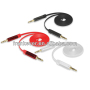 3.5mm Male To 3.5mm Male Flat Noodle Audio Extension Aux Cable