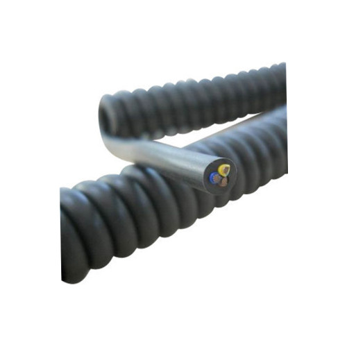 High quality PU retractable cable spiral spring power coiled cables