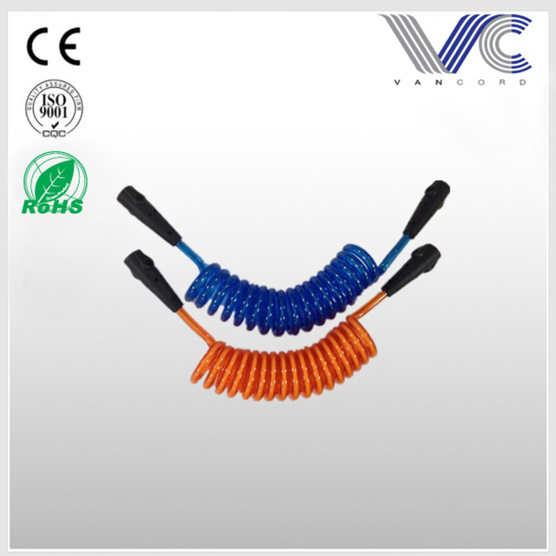 Colorful PU swivel surfing coiled rope water sports